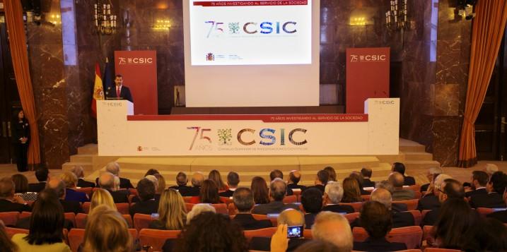 Acto conmemorativo 75 aniversario del CSIC