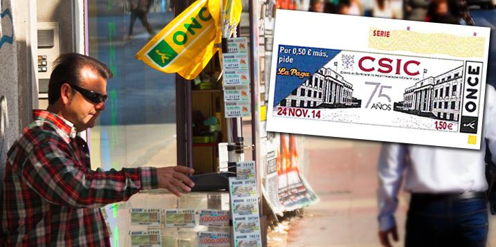 Presentación del cupón de la ONCE del 75 Aniversario del CSIC